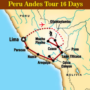 Peru Andes Tour 16 Days