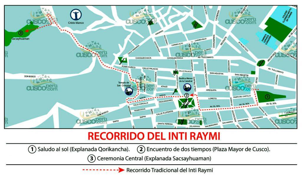Inti Raymi Map